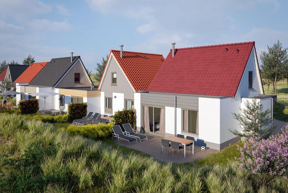 Van der Vlugt renoveert vakantiehuisjes Center Parcs - van der vlugt Velserbroek - kozijnen en zonwering